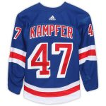 Fanatics Authentic Steven Kampfer New York Rangers Game-Used #47 Blue Set 2 Jersey from the 2017-18 NHL Season - Size 56