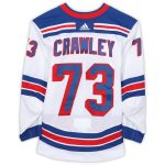 Fanatics Authentic Brandon Crawley New York Rangers Game-Used #73 White Jersey from the 2018-19 NHL Preseason - Size 56