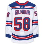 Fanatics Authentic John Gilmour New York Rangers Game-Used #58 White Jersey from the 2018-19 NHL Preseason - Size 56
