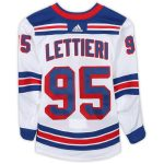 Fanatics Authentic Vinni Lettieri New York Rangers Game-Used #95 White Set 1 Jersey from the 2018-19 NHL Season - Size 52