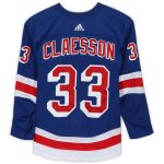 Fanatics Authentic Fredrik Claesson New York Rangers Game-Used #33 Blue Set 1 Jersey from the 2018-19 NHL Season - Size 58