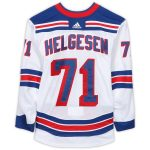 Fanatics Authentic Tyson Helgesen New York Rangers Game-Used #71 White Jersey from the 2018-19 NHL Preseason - Size 56