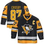 Fanatics Branded Sidney Crosby Pittsburgh Penguins Youth Black Replica Player Jersey