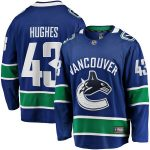 Fanatics Branded Quinn Hughes Vancouver Canucks Blue Breakaway Team Color Player Jersey