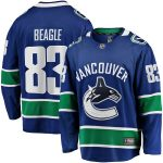 Fanatics Branded Jay Beagle Vancouver Canucks Blue Breakaway Team Color Player Jersey