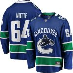 Fanatics Branded Tyler Motte Vancouver Canucks Blue Breakaway Team Color Player Jersey