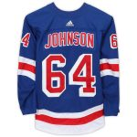 Fanatics Authentic Reese Johnson New York Rangers Game-Used #64 Blue Jersey from the 2018-19 NHL Preseason - Size 56