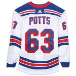 Fanatics Authentic Kyle Potts New York Rangers Game-Used #63 White Jersey from the 2018-19 NHL Preseason - Size 58