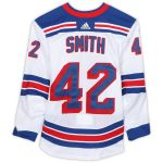 Fanatics Authentic Brendan Smith New York Rangers Game-Used #42 White Jersey from the 2018-19 NHL Preseason - Size 56
