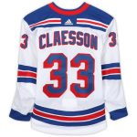 Fanatics Authentic Fredrik Claesson New York Rangers Game-Used #33 White Set 1 Jersey from the 2018-19 NHL Season - Size 58