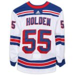 Fanatics Authentic Nick Holden New York Rangers Game-Used #55 White Jersey from the 2017-18 NHL Preseason - Size 58