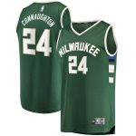 Fanatics Branded Pat Connaughton Milwaukee Bucks Youth Hunter Green Fast Break Replica Player Jersey - Icon Edition