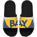 Golden State Warriors ISlide Youth White Statement Jersey Slide Sandals