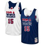 Mitchell & Ness Magic Johnson USA Basketball Navy Training 1992 Dream Team Authentic Reversible Practice Jersey