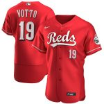 Nike Joey Votto Cincinnati Reds Scarlet Alternate 2020 Authentic Player Jersey