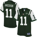 NFL Pro Line Robby Anderson New York Jets Women's Green Player Jersey