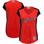 Majestic American League Women's Red/Navy 2019 MLB All-Star Game Workout Team Jersey