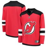 Fanatics Branded New Jersey Devils Youth Red Home Replica Blank Jersey