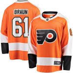 Fanatics Branded Justin Braun Philadelphia Flyers Orange Breakaway Player Jersey