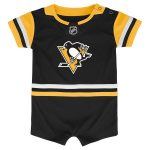 Pittsburgh Penguins Newborn & Infant Black Replica Jersey Bodysuit