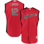 Majestic Francisco Lindor American League Red 2019 MLB All-Star Game Workout Player Jersey