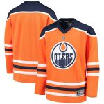 Fanatics Branded Edmonton Oilers Youth Orange Home Replica Blank Jersey