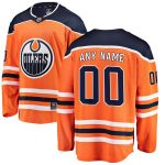 Fanatics Branded Edmonton Oilers Youth Orange Home Breakaway Custom Jersey