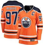 Fanatics Branded Connor McDavid Edmonton Oilers Women's Orange Home Premier Breakaway Player Jersey