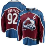 Fanatics Branded Gabriel Landeskog Colorado Avalanche Burgundy Breakaway Player Jersey