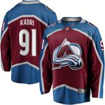 Fanatics Branded Nazem Kadri Colorado Avalanche Burgundy Team Color Breakaway Player Jersey