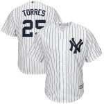 Majestic Gleyber Torres New York Yankees White/Navy Home Big & Tall Cool Base Player Jersey
