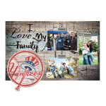 "New York Yankees 11"" x 19"" I Love My Family Clip Photo Frame"