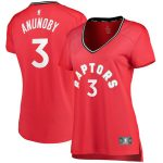 Fanatics Branded OG Anunoby Toronto Raptors Women's Red Fast Break Replica Player Jersey - Icon Edition