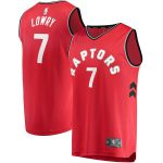 Fanatics Branded Kyle Lowry Toronto Raptors Red Fast Break Replica Player Team Jersey - Icon Edition