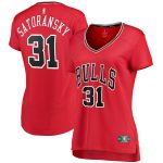 Fanatics Branded Tomas Satoransky Chicago Bulls Women's Red Fast Break Player Jersey - Icon Edition