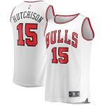 Fanatics Branded Chandler Hutchison Chicago Bulls Youth White Fast Break Player Jersey - Association Edition