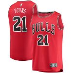 Fanatics Branded Thaddeus Young Chicago Bulls Red Fast Break Player Jersey - Icon Edition