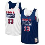 Mitchell & Ness Chris Mullin USA Basketball Navy Training 1992 Dream Team Authentic Reversible Practice Jersey