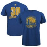 Majestic Threads Stephen Curry Golden State Warriors Royal Name & Number Tri-Blend T-Shirt