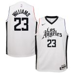 Nike Lou Williams LA Clippers Youth White Swingman Jersey Jersey - City Edition