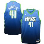 Nike Dirk Nowitzki Dallas Mavericks Youth Blue Swingman Jersey Jersey - City Edition