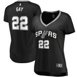Fanatics Branded Rudy Gay San Antonio Spurs Women's Black Fast Break Replica Player Jersey - Icon Edition