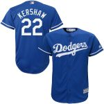 Majestic Clayton Kershaw Los Angeles Dodgers Youth Royal Official Cool Base Player Jersey