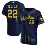 Nike Christian Yelich Milwaukee Brewers Navy Alternate 2020 Authentic Player Jersey