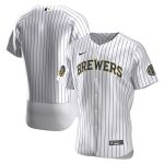 Nike Milwaukee Brewers White Home 2020 Authentic Team Jersey