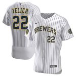 Nike Christian Yelich Milwaukee Brewers White Home 2020 Authentic Player Jersey