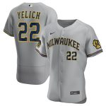 Nike Christian Yelich Milwaukee Brewers Gray Road 2020 Authentic Player Jersey