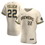 Nike Christian Yelich Milwaukee Brewers Cream Alternate 2020 Authentic Player Jersey