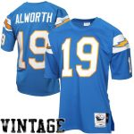 Mitchell & Ness Lance Alworth San Diego Chargers Light Blue Authentic Throwback Jersey