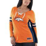 Majestic Denver Broncos Women's Orange Winning Style Long Sleeve T-Shirt